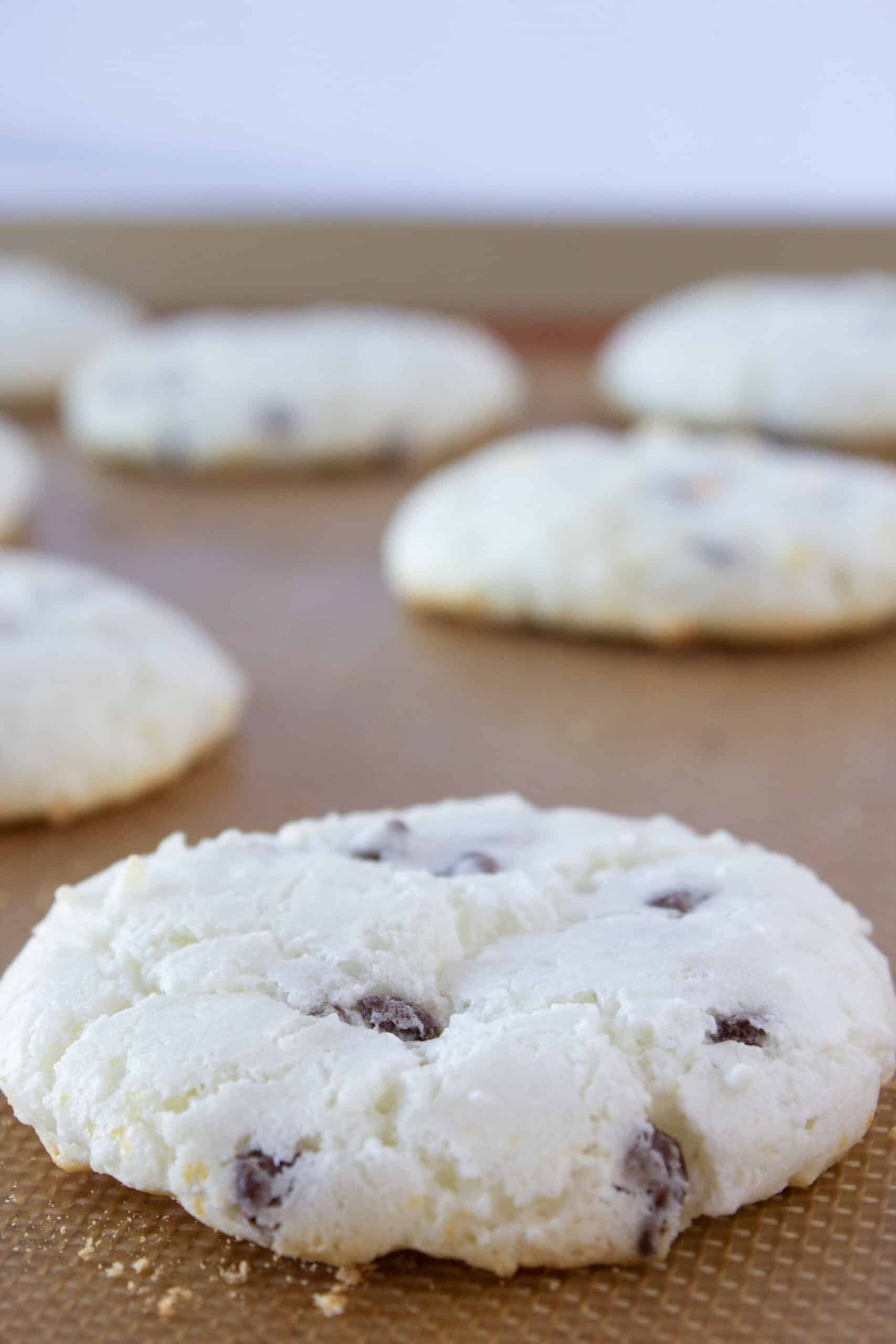 Easy Angel Food Chocolate Chip Macaroons Recipe featured by top US cookies blogger, Practically Homemade