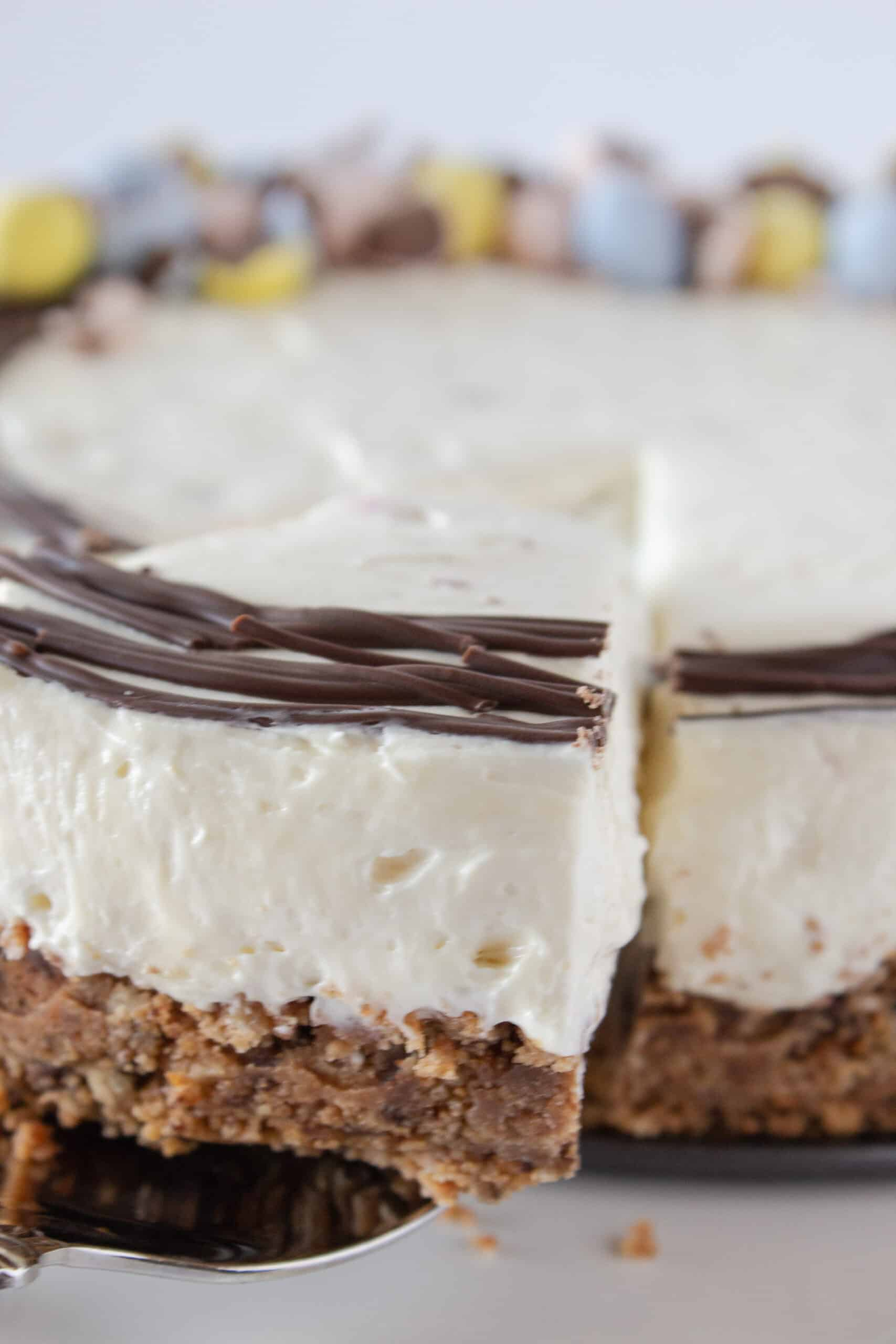 Mini Cadbury Egg Cheesecake Recipe, a no bake cheesecake featured by top US dessert blogger, Practically Homemade