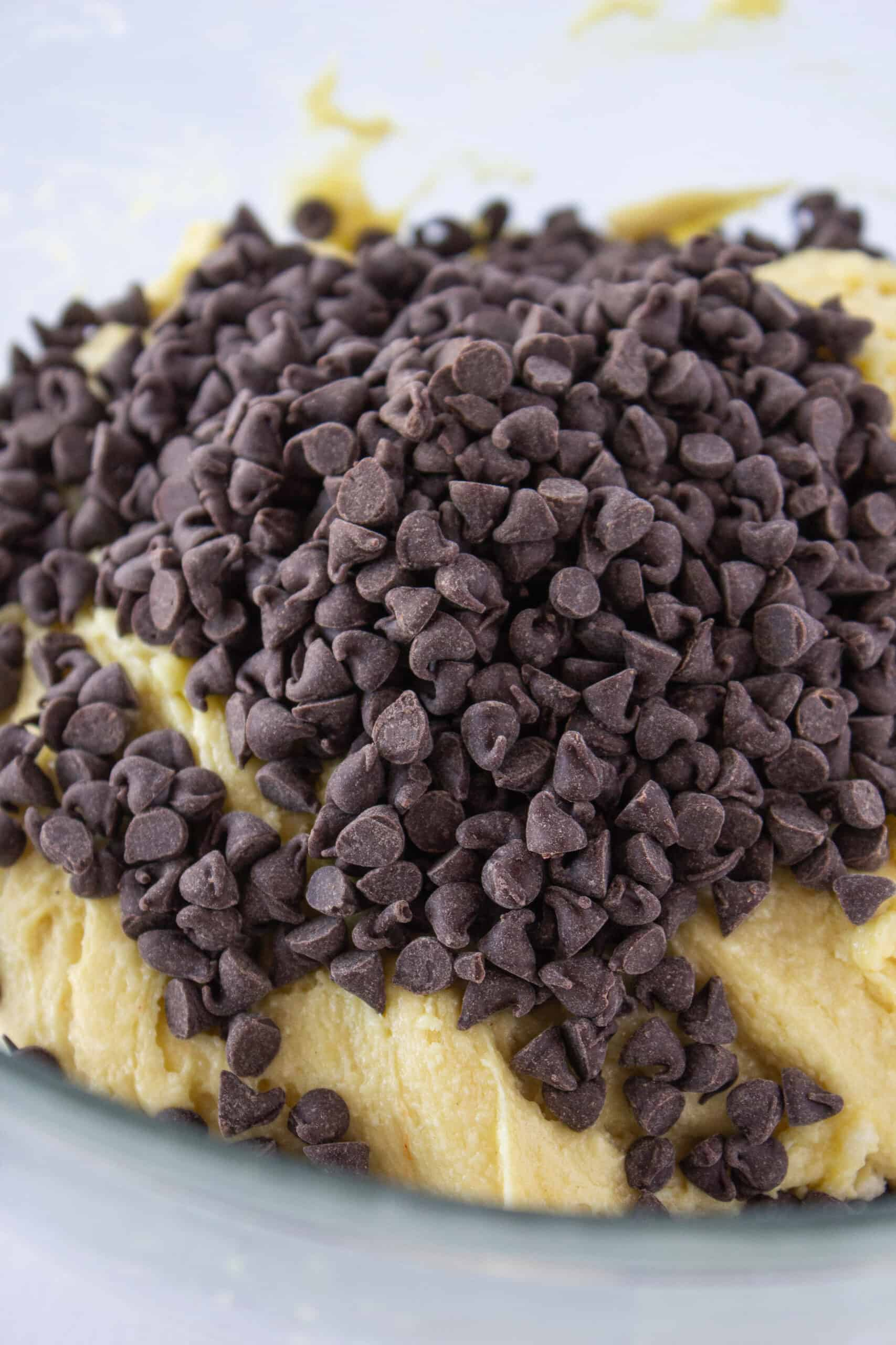 Cake Mix Cookies: Chocolate Chip Sheet Cake Cookie Recipe featured by top US cookie blogger, Practically Homemade