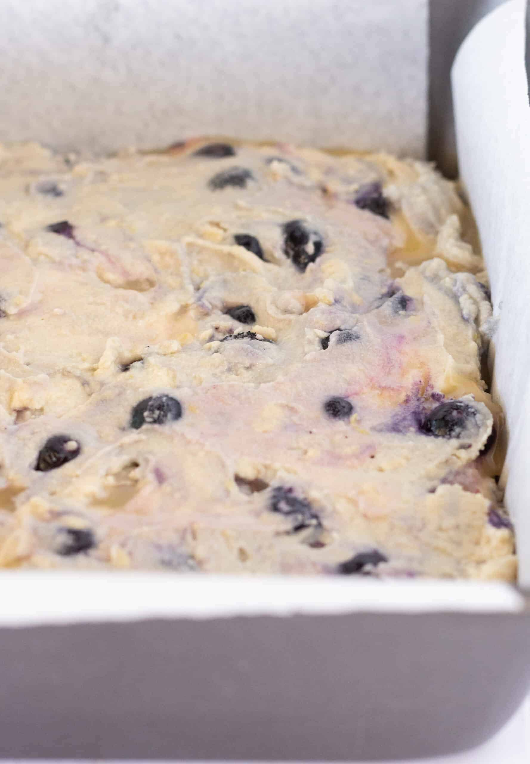 Easy Lemon Blueberry Crumb Cake with Sour Cream, a Recipe featured by top US dessert blogger, Practically Homemade