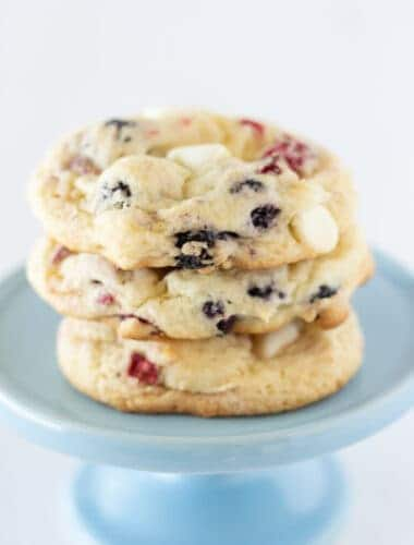 Red White and Blue Cake Mix Cookies Recipe featured by top US cookies blogger, Practically Homemade