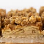 Easy Fall Desserts: Dutch Apple Pie Bars Recipe featured by top US dessert blog, Practically Homemade