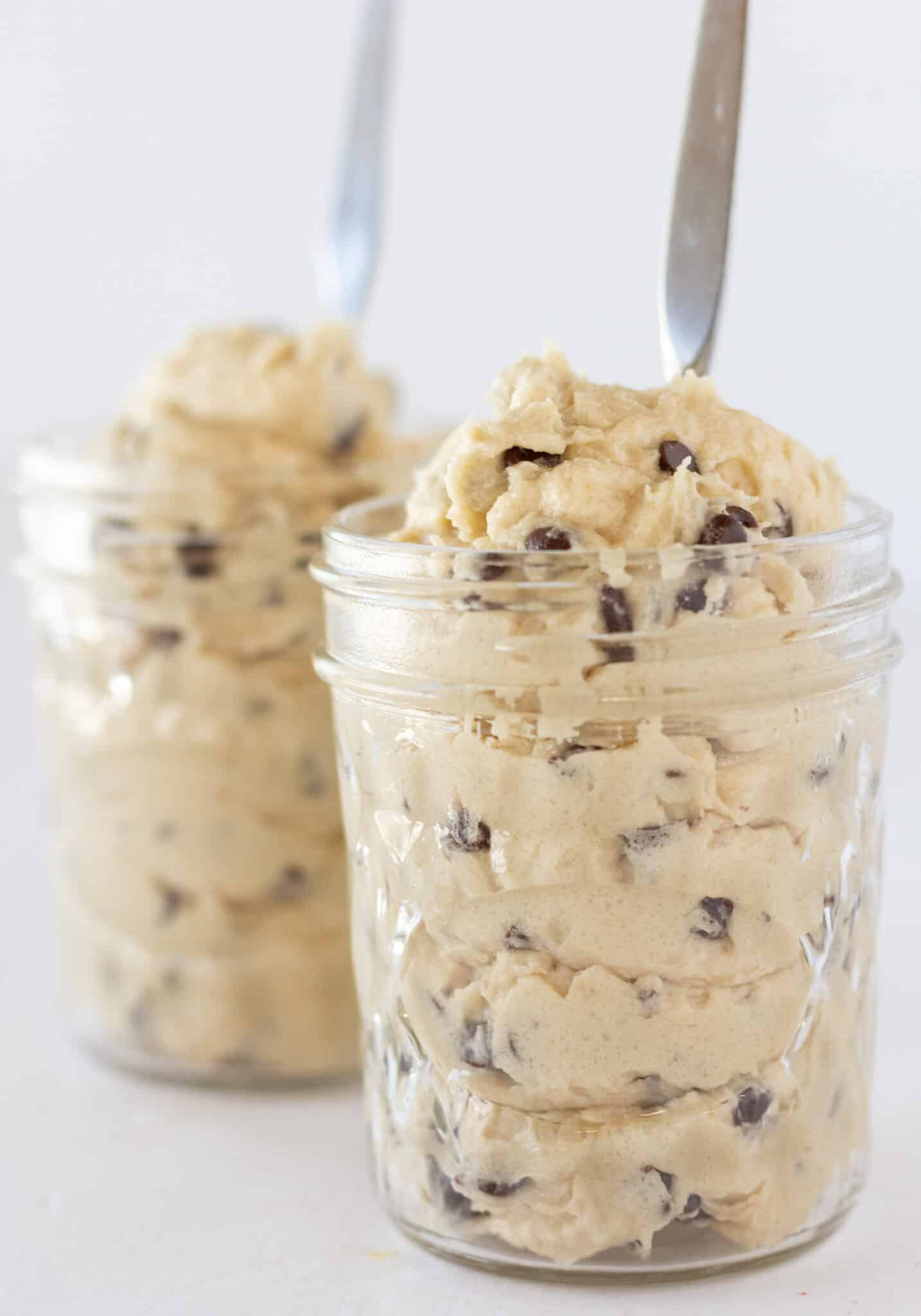 Easy Eggless Chocolate Chip Cookie Dough Recipe featured by top US cookie blogger, Practically Homemade