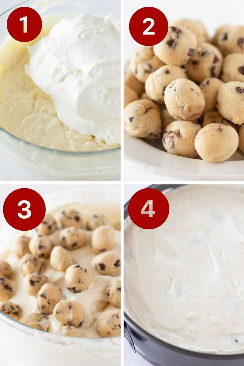 Eggless Cookie Dough Cheesecake Recipe featured by top US dessert blogger, Practically Homemade