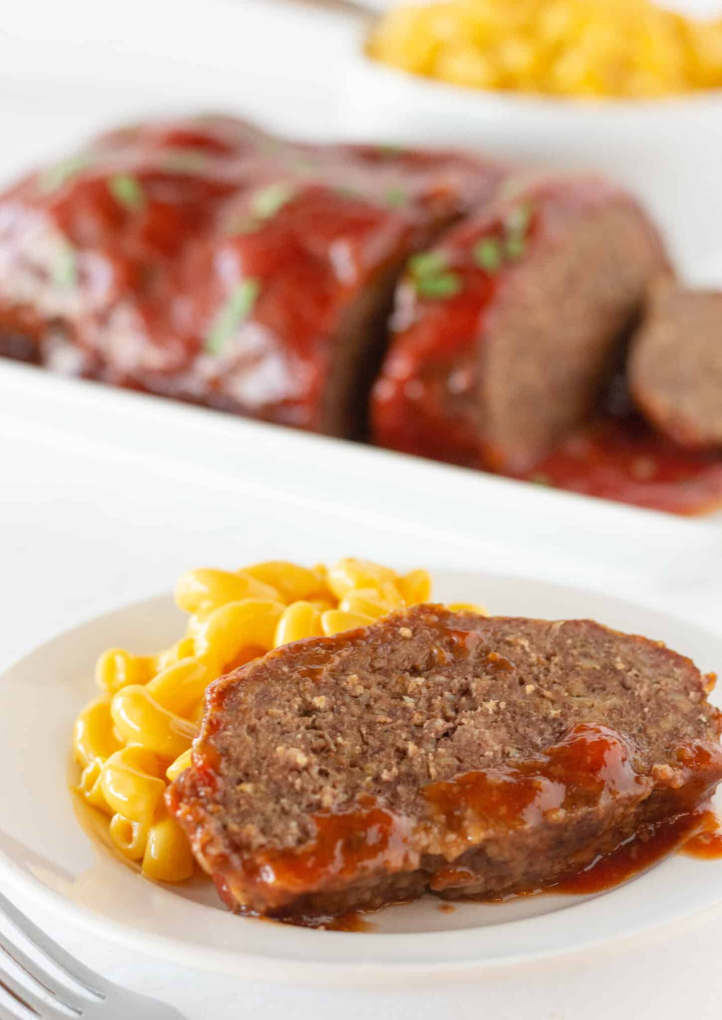 Crock Pot Meatloaf Recipe featured by top US food blogger, Practically Homemade