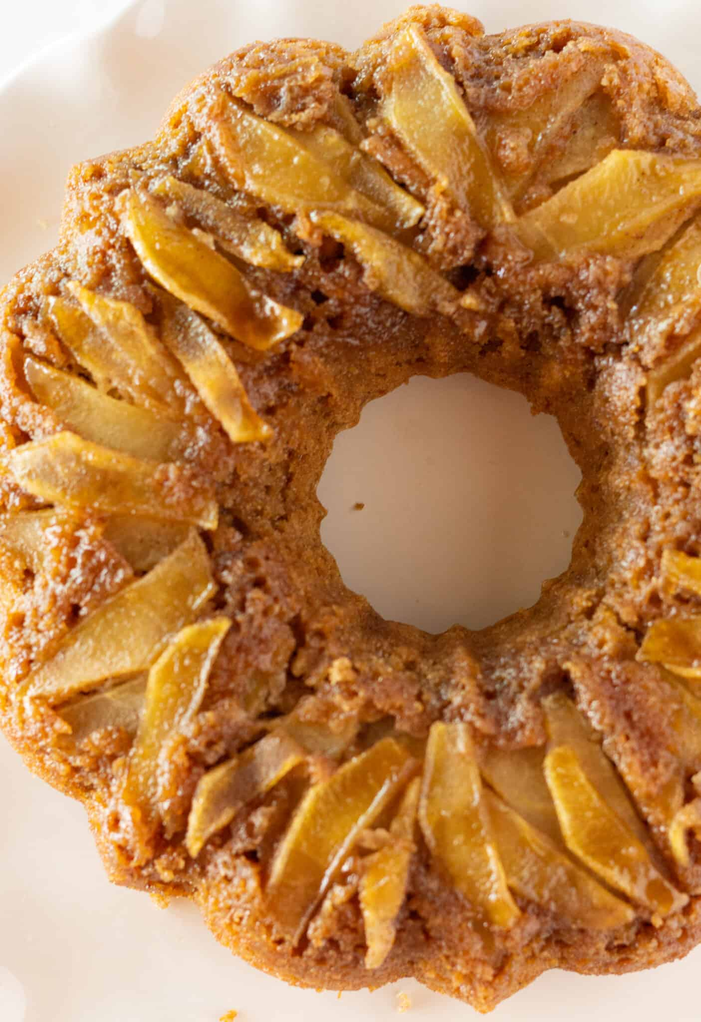 Apple Upside Down Cake with a Cake Mix, a Fall dessert by top US dessert blogger, Practically Homemade