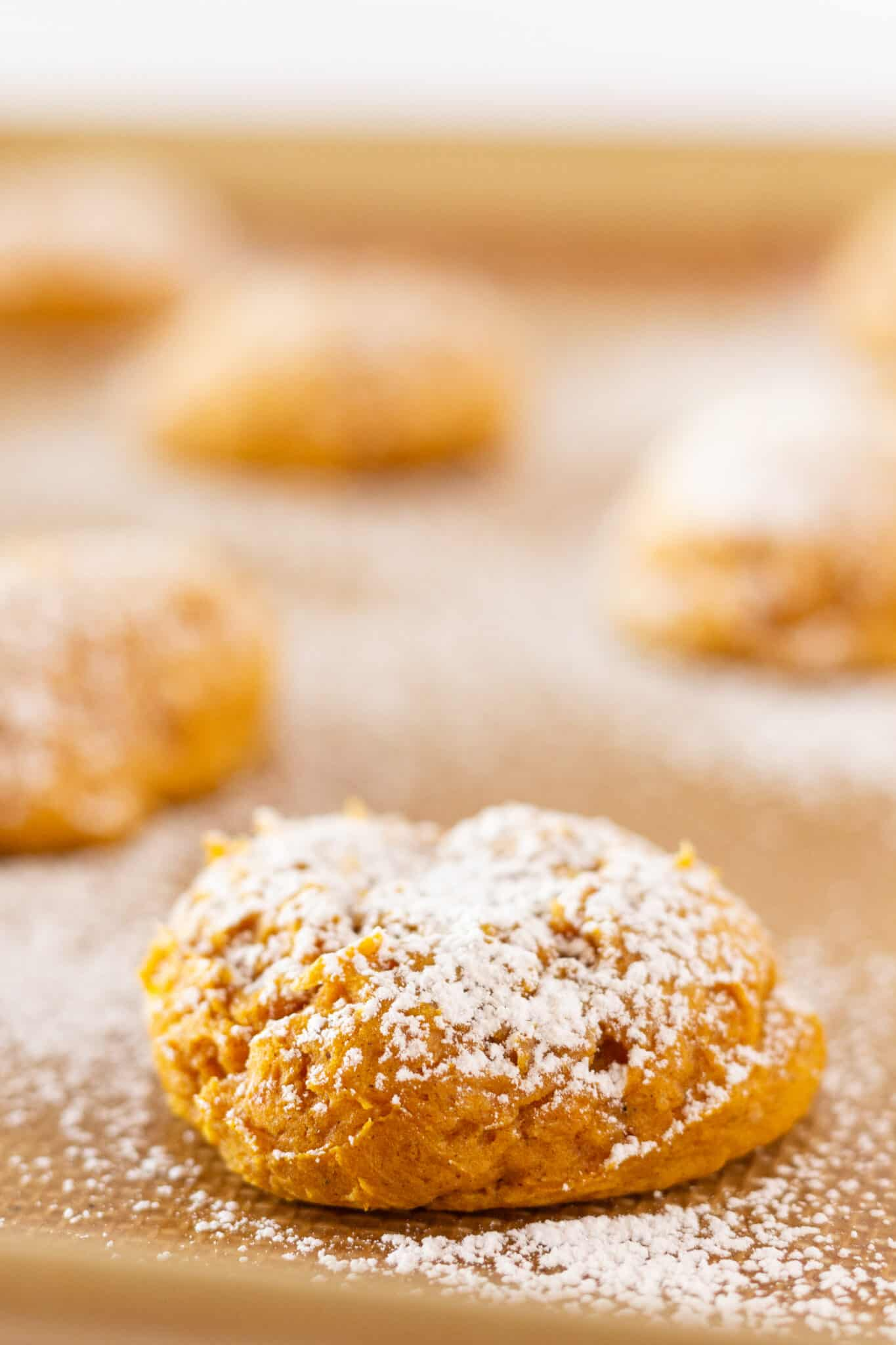 Pumpkin Cream Cheese Cookies Recipe Made with a Cake Mix featured by top US cookie blogger, Practically Homemade