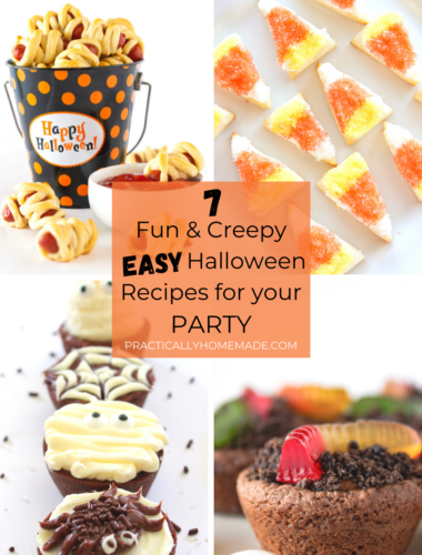 Easy Halloween Recipes for your Parties featured by top US food blogger, Practically Homemade