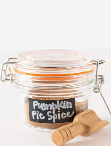 Homemade Pumpkin Pie Spice Recipe featured by top US dessert blogger, Practically Homemade