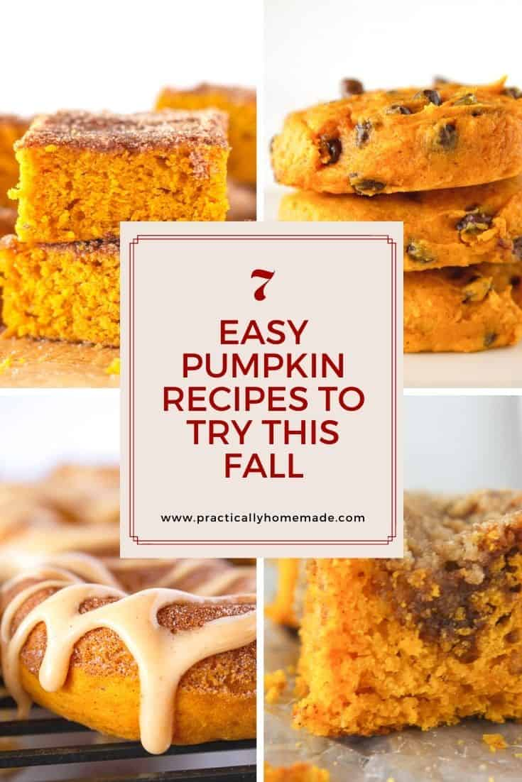 7 Easy Pumpkin dessert Recipes to Try this Fall featured by top US dessert blogger, Practically Homemade